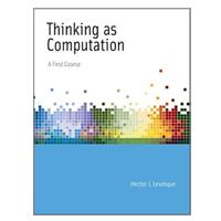 MIT Press THINKING AS COMPUTATION