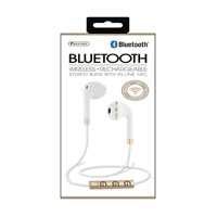 Sentry Industries Bluetooth Earbuds - White/Gold