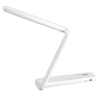 Artistic Tri-fold LED Desk Lamp with Rechargeable Lithium Battery.