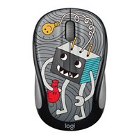Logitech M325c Doodle Collection Wireless Optical Mouse - Lightbulb