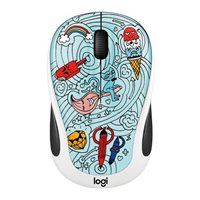 Logitech M325c Doodle Collection Wireless Optical Mouse - Bae-Bee Blue