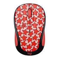 Logitech M325c Doodle Collection Wireless Optical Mouse - Cosmos Coral