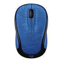Logitech M325c Doodle Collection Wireless Optical Mouse - Deep Blue Bot