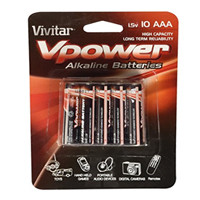 Vivitar 10-Pack Vpower AAA Alkaline Batteries