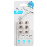 iHome iHome Cable Cage Cable Organizer with Adhesive Sticker Clear (6 Pack)