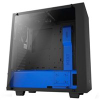 NZXT S340 Elite ATX Mid-Tower Computer Case - Black/Blue