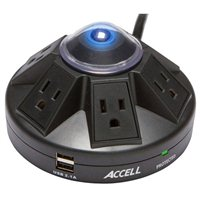 Accell Powramid Power Center - Surge Protector and USB Charging Station