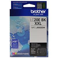 Brother LC20EBK XXL Super High Yield Black Ink Cartridge