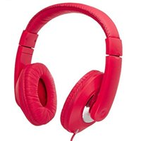 Vivitar Deejay Listen Up Stereo Headphones - Red