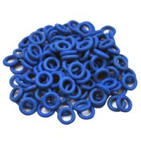 WASD Keyboards Cherry MX Rubber Blue 0.4mm O-Ring Switch Dampeners - 125 Piece