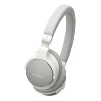 Audio-Technica Wireless On-Ear Headphones w/ Mic - White