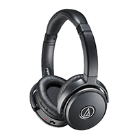 Audio-Technica QuietPoint Active Noise-Cancelling Headphones w/ Mic - Black