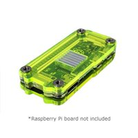 C4Labs Zebra Zero Case for Raspberry Pi Zero/Pi Zero W - Laser Lime with Heatsink