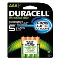 Duracell 4-Pack AAA Rechargeable Batteries 1,500mAH