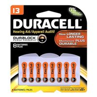 Duracell Hearing Aid battery # 13, 8 pack