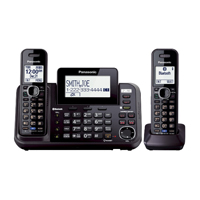 Panasonic Link2Cell Bluetooth Enabled 2-Line Phone with Answering Machine