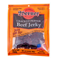 Werner Cracked Pepper Beef Jerky 2.4 oz.