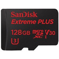 SanDisk 128GB SanDisk Extreme PLUS microSDXC UHS-I Card with Adapter
