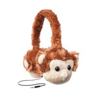 Emerge Retractable Monkey Headphones - Brown