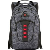 "Swiss Gear Granite Laptop Backpack Fits Screens up to 16"" - Black with Geo Print"