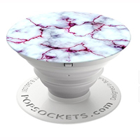 PopSockets Cell Phone Grip and Stand Aluminum - Blood Marble