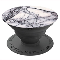 PopSockets Cell Phone Grip and Stand Aluminum - White Marble