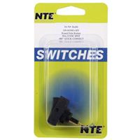 NTE Electronics Rocker Round Hole SPST Switch - Black