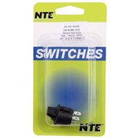 NTE Electronics Illuminated Rocker Snap-in Paddle Handle SPST Switch - Red LED