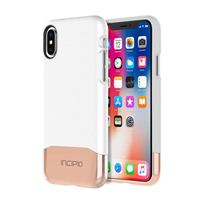 Incipio Technologies Edge Chrome for iPhone X - Glossy White/Rose Gold