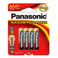 Panasonic Panasonic Alkaline Plus Battery AAA 4pk