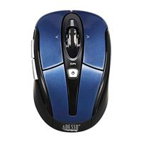 Adesso Wireless Programmable Nano Mouse - Blue