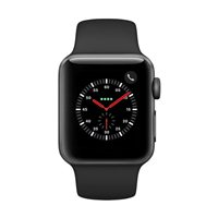 Apple Watch Series 3 GPS/Cellular 38mm Space Gray Aluminum Smartwatch - Black Sport Band