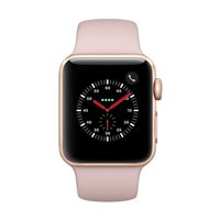 Apple Watch Series 3 GPS/Cellular 38mm Gold Aluminum Smartwatch - Pink Sand Sport Band