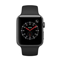 Apple Watch Series 3 GPS/Cellular 42mm Space Gray Aluminum Smartwatch - Black Sport Band