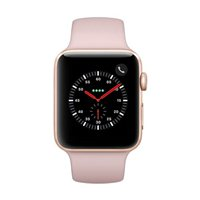 Apple Watch Series 3 GPS/Cellular 42mm Gold Aluminum Smartwatch - Pink Sand Sport Band