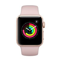Apple Watch Series 3 GPS 38mm Gold Aluminum Smartwatch - Pink Sand Sport Band