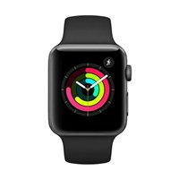 Apple Watch Series 3 GPS 42mm Space Gray Aluminum Smartwatch - Black Sport Band