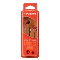 Polaroid PH783 Noise Isolating Earbuds w/ In-line Mic - Red