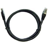 Inland CAT 6 Molded Boots Network Cable 6 in. 5-Pack - Black