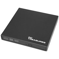 PC Treasures 8x USB 2.0 External DVD RW Drive Black