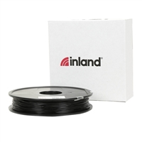 Inland eLastic 1.75mm Black TPE 3D Printer Filament - 0.5kg Spool (1 lbs.)
