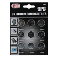 JMK / IIT Assorted Lithium 3V Button Cell Batteries 9-Piece