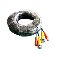 Winbook 60 ft. BNC Video and Power Cable with extensions for CCTV Security Systems