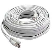 Winbook 100ft BNC Video and Power Double Shielded RG59 Cable with BNC to Inline adapters for CCTV Security Systems