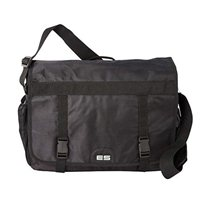 "Eastsport Double Buckle Laptop Messenger Fits Screens up to 17"" - Black"