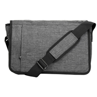 "Hynes Eagle Laptop Messenger Bag Fits Screens up to 15"" - Black"