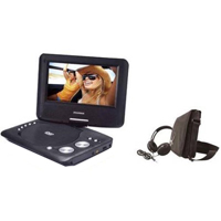 """Onn 7"""" Portable DVD Player with Matching Headphones and Bag"""