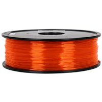 Inland 1.75mm Translucent Orange PETG 3D Printer Filament - 1 kg spool (2.2lbs)