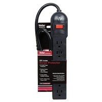 Vivitar 6 Outlet 300J Surge Protector 2.5 ft. Cord