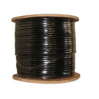 Inland Cat 5e Bulk Cable 500 ft. - Black